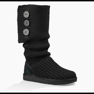Ugg black sweater boots-7